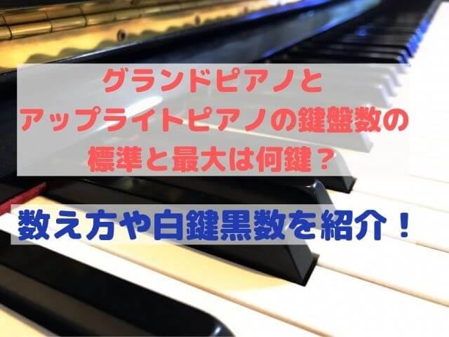 グランドピアノとアップライトピアノの鍵盤数の標準と最大は何鍵?数え方や白鍵黒鍵の数を紹介!